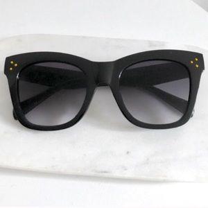 Catherine Cateye Oversized UV Sunglasses (Gold)